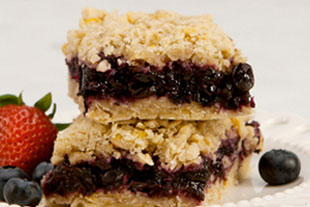 healthy blueberries squares recipe